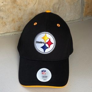 🆕 YOUTH Steelers Hat Black & Gold Pittsburgh Cap